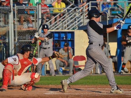 Battle Creek Bombers Alec Cargin was the starting catcher
