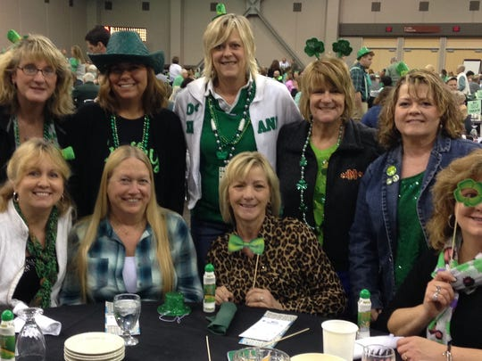 Big Bingo Mater Dei High School and Reitz Memoral High School hosted their annual Big Bingo fundraiser at Old National Events Plaza this past weekend. It was a great turnout as folks invoked the Luck of the Irish to win at the various bingo games and other gaming opportunities. In the photo are from left seated Mary DeWeese, Julie Zenthoefer, Sharon Zenthoefer and Ann Titzer. Standing are Jenny Tenhumberg, Stacey Devault, Patty Montgomery, Stacey Stevenson and Ara Hertel.