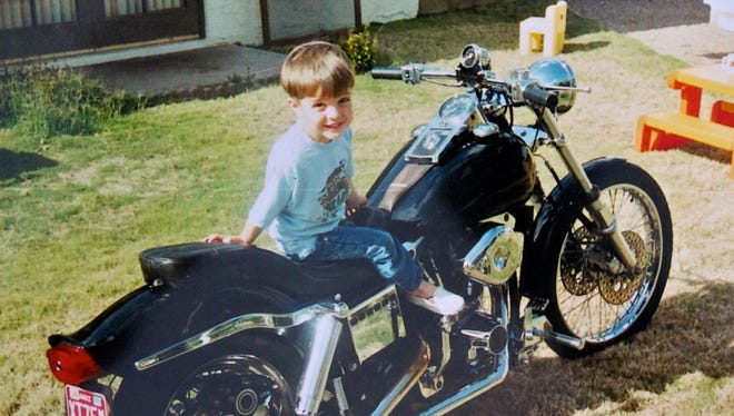 Scott Colbath would take his son, Max, for rides on his motorcycle.