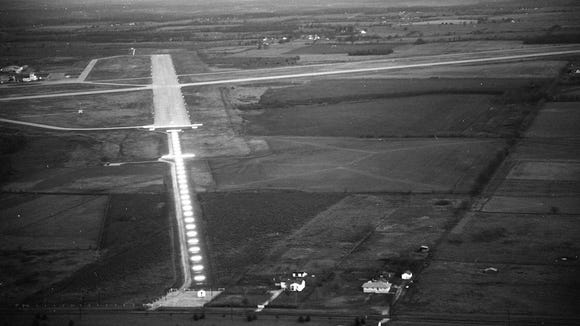 An aerial photo of the Springfield Municipal Airport,