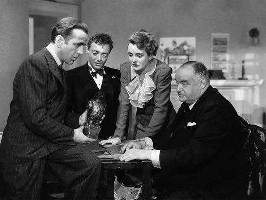 """The Maltese Falcon"" starred Humphrey Bogart (from"