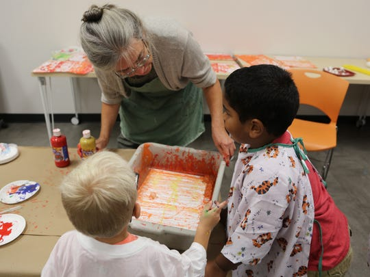 Students from Culver Family Learning Center participate in art projects through Kaleidoscope.