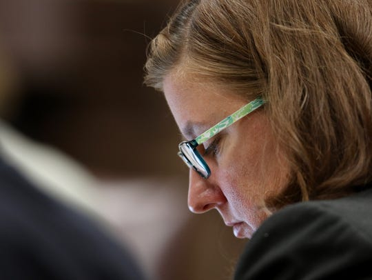 Des Moines County Attorney Amy Beavers during the first-degree