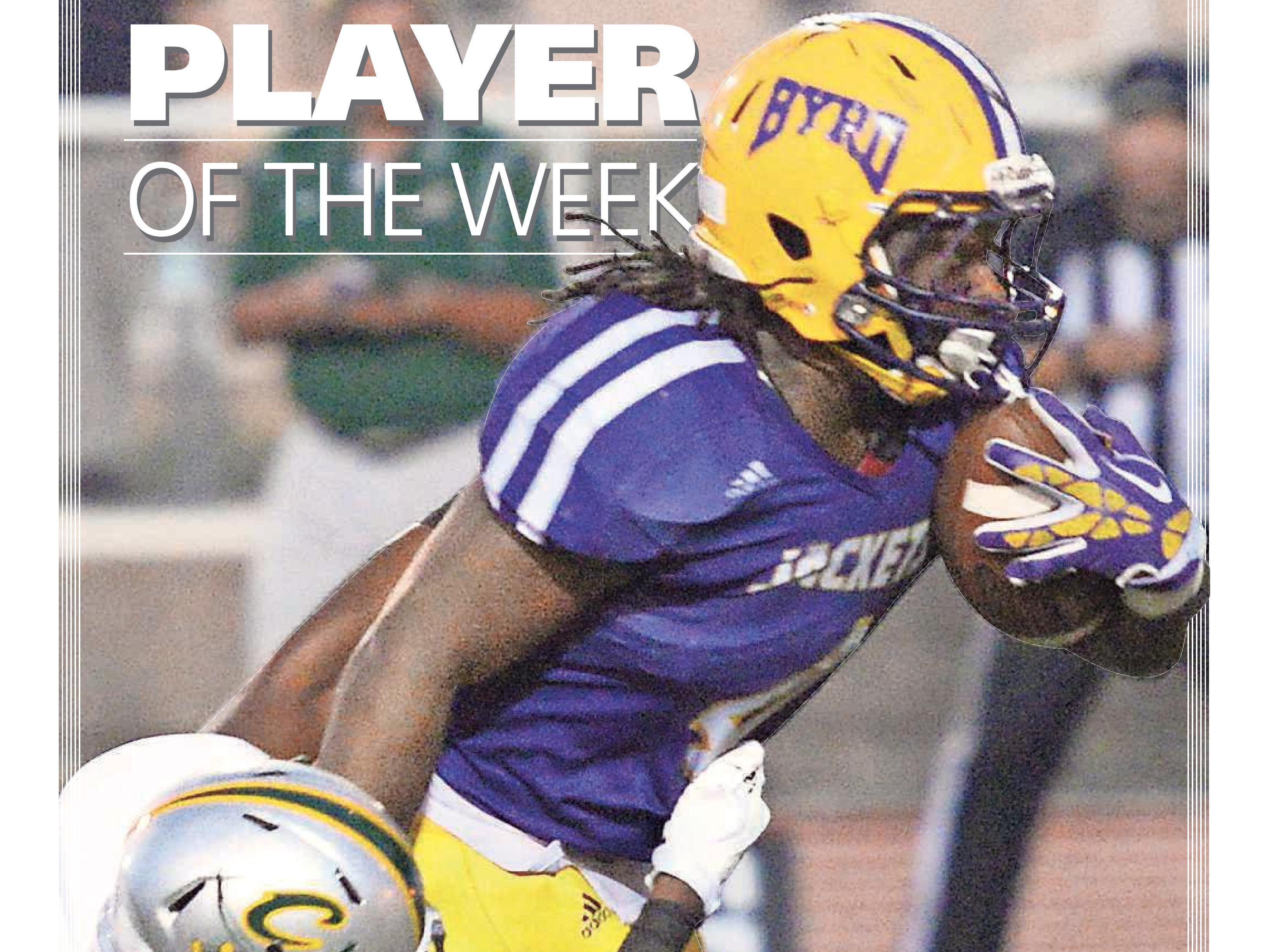 Byrd running back Trayveon Allen was voted the Week 3 Player of the Week.