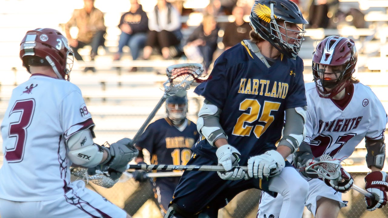Highlights and interviews from Hartland's 15-3 boys' lacrosse victory at Walled Lake Northern. The Eagles clinched their first conference championship.