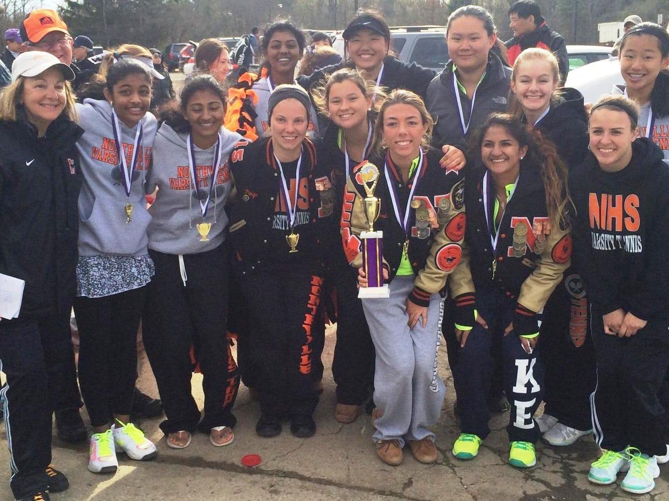 The top-ranked Northville girls tennis team won the Ann Arbor Pioneer Quad on Saturday.