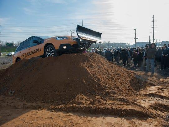 Groundbreaking ceremony for the new Subaru Corporate