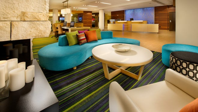 Guests can relax in the lobby of the Fairfield Inn & Suites, Baltimore BWI Airport. The Fairfield brand rated #1 in customer satisfaction according to a recent ACSI survey.