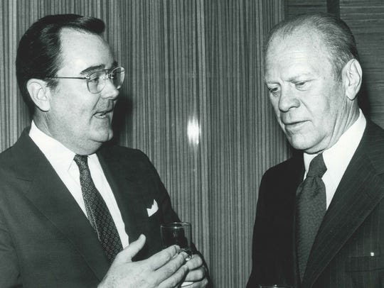 Bob Gable with President Gerald Ford.