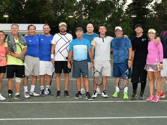 Local tennis professionals and amateurs paired for the Pro-Am Doubles Competition