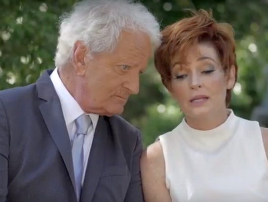 Nicolas Coster and Carolyn Hennesy in a scene from