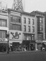 Historical photo of the buildings near East Main Street