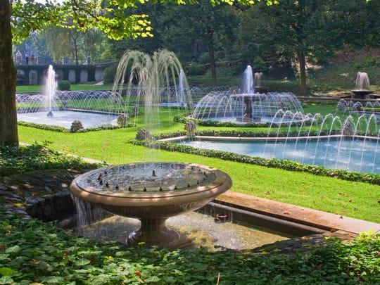 An Italian Water Garden is one of dozens of gardens at Longwood Gardens, part of the Brandywine Valley.
