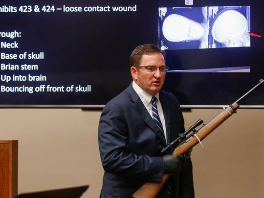 Greene County Prosecuting Attorney Dan Patterson presents