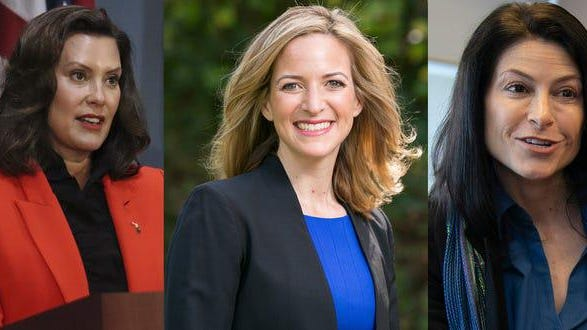 Governor Gretchen Whitmer, left, Secretary of State Jocelyn Benson, center, and Attorney General Dana Nessel are among the Top Feminists of 2020, says Ms. magazine.