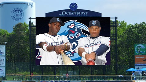 BlueClaws unveil new video board.
