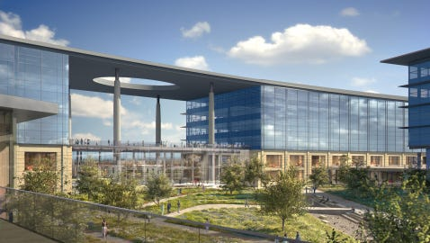 Renderings of Toyota's new North American headquarters in Plano