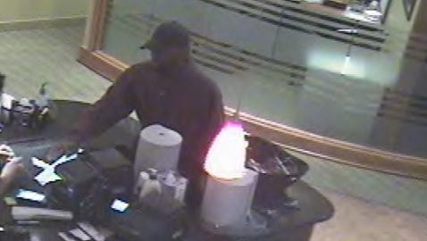 Suspect wanted in Mt. Juliet bank robbery.