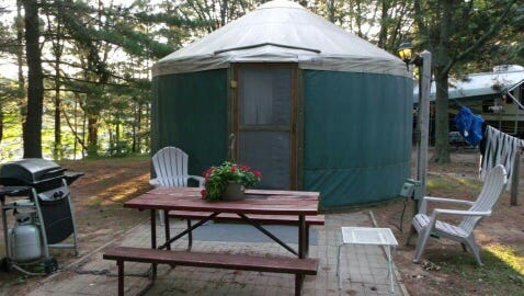 Yurts offer a different type of camping experience for travelers.