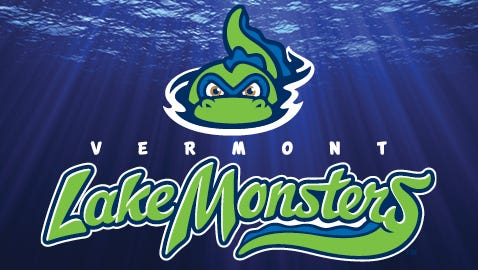The Vermont Lake Monsters logo.