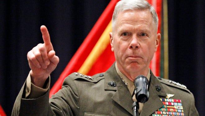 Gen. James Amos is commandant of the Marine Corps.