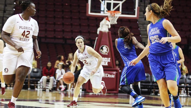 FSU's Brittany Brown scored 17 points and grabbed four rebounds during the Seminoles exhibition game against West Florida.