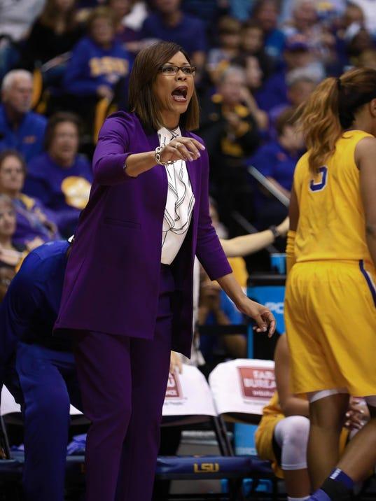 NCAA Womens Basketball: Connecticut at Louisiana State