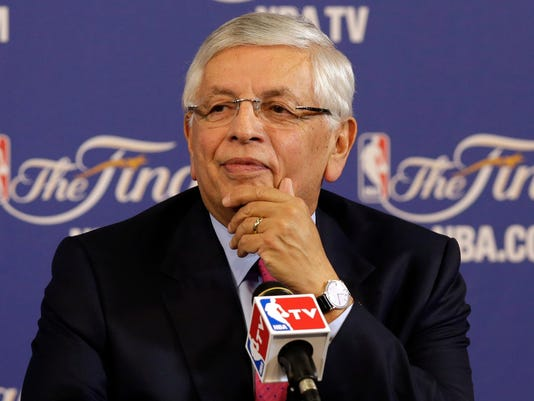 USP NBA: FINALS-DAVID STERN-PRESS CONFERENCE S BKN USA FL