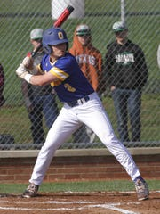 Ontario's Avery Fisher readies himself at bat while playing at Clear Fork on Wednesday.