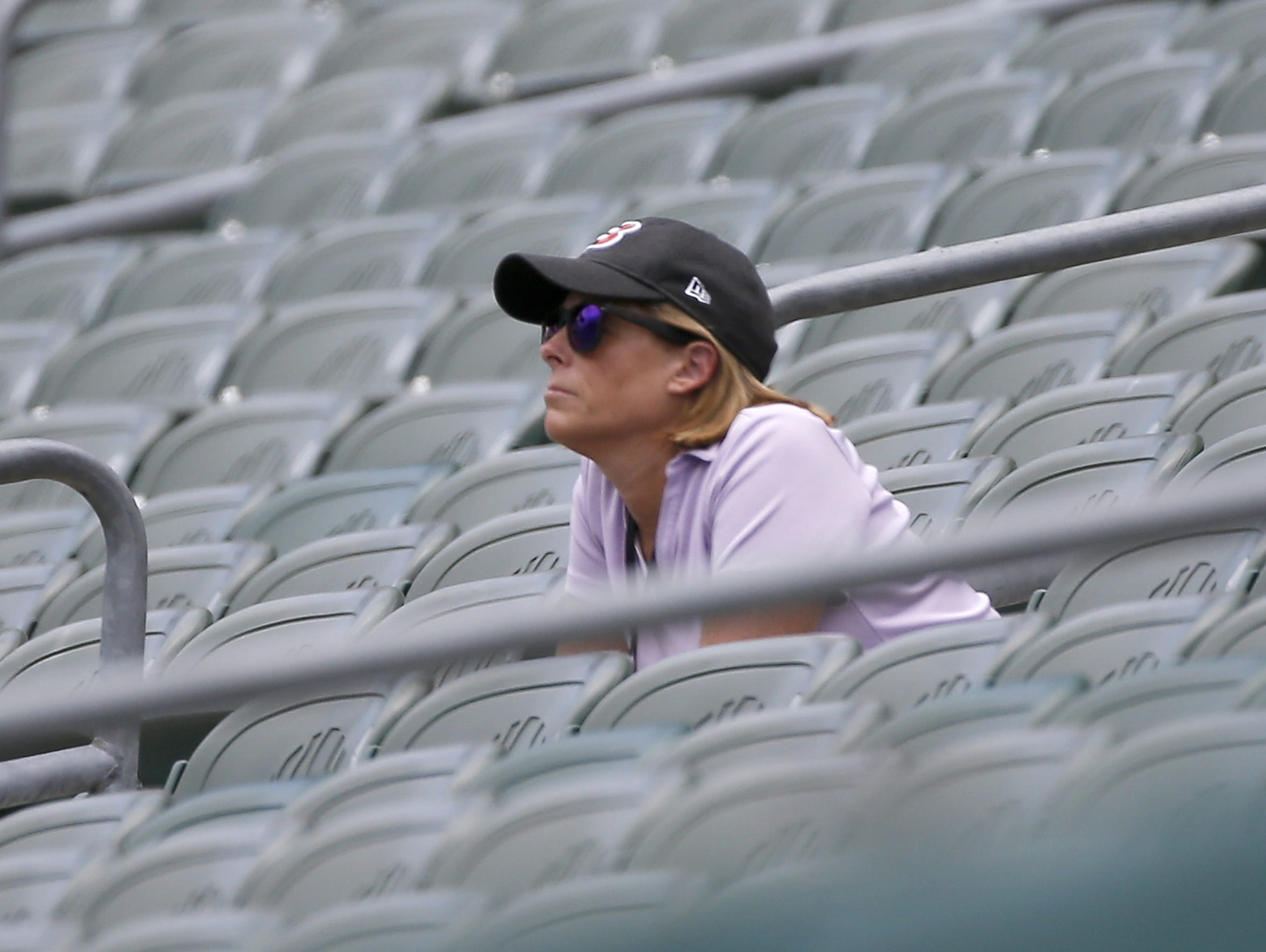 Bengals executive vice president Katie Blackburn watches
