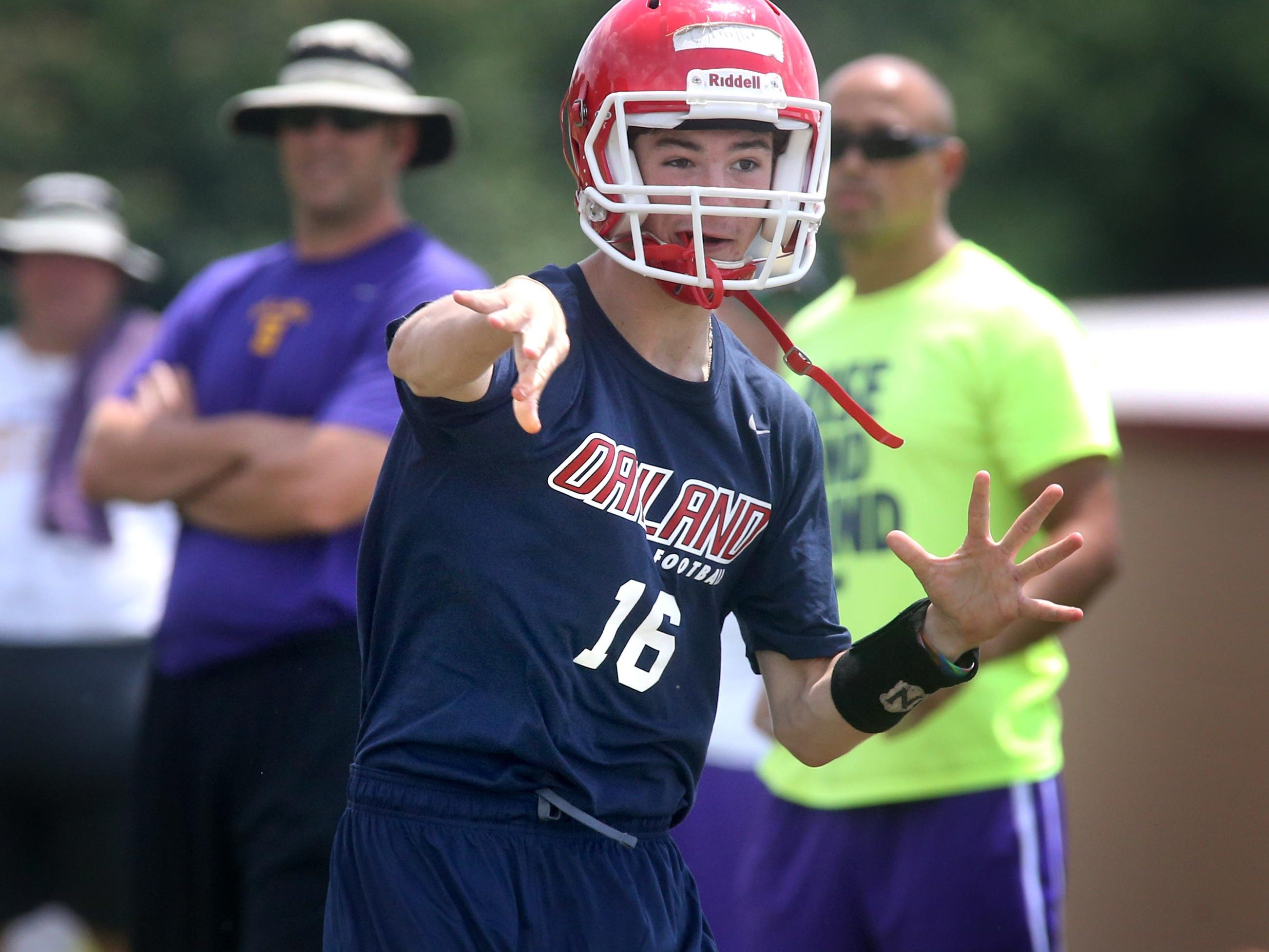 Oakland's quarterback Cody Miller is the likely No. 1 for the Patriots entering fall camp.