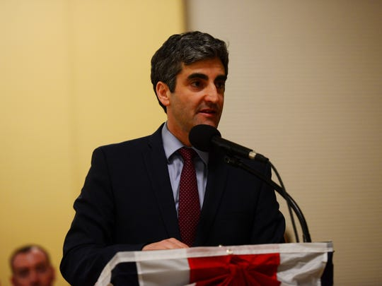 Burlington Mayor Miro Weinberger delivers the State of the City address on April 4 in Contois Auditoirum.