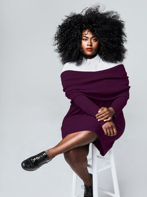 Actress and advocate Danielle Brooks wearing clothes from her new collaboration with Universal Standard.