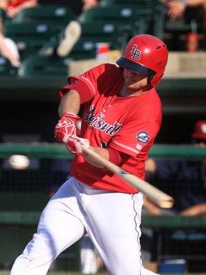 The Bats' Scott Schebler (12) bats against Lehigh Valley at Slugger Field on Sunday, July 24, 2016.