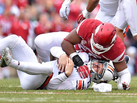 NCAA Football: Auburn at Arkansas