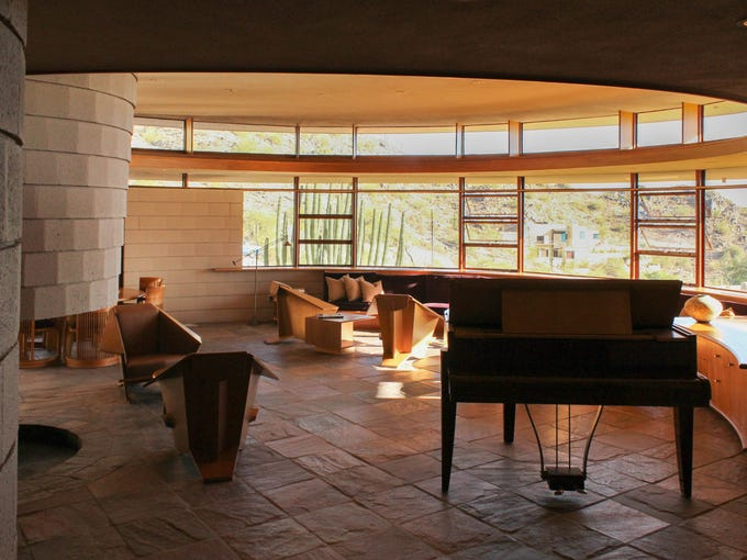 "The last home designed by Frank Lloyd Wright, the ""Norman"