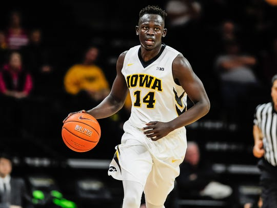At 22.6 points per game, Iowa's Peter Jok is the Big Ten's leading scorer.