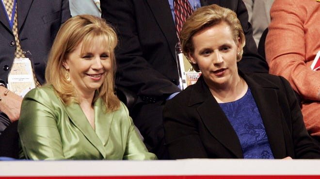 Liz, left, and Mary Cheney are the daughters of former vice president Dick Cheney.