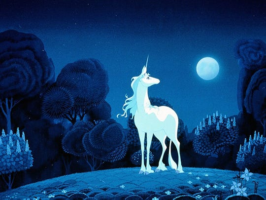 "Kids of all ages will be charmed by ""The Last Unicorn."""