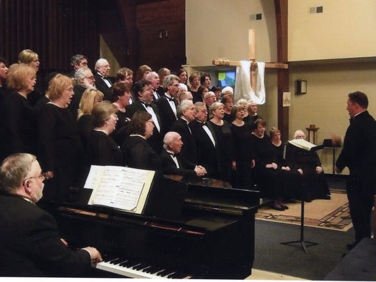 The Motor City Chorale, a community chorus that got its start as a GM Chorus, performs at St. Paul's Lutheran Church in Grosse Pointe Farms in the Spring of 2014.