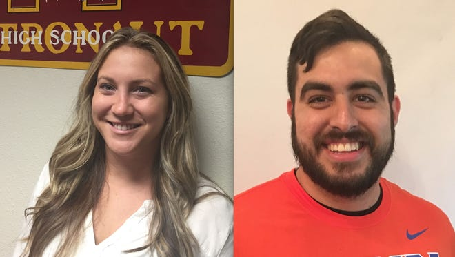 New Astronaut High girls soccer coaches (left to right) Emilee Quinn and Diego Perez-Gaitan