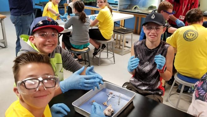 Students visited OMSI where they dissected a cow eye. It was one the BEST parts or WORST parts of the day, depending on who you asked!