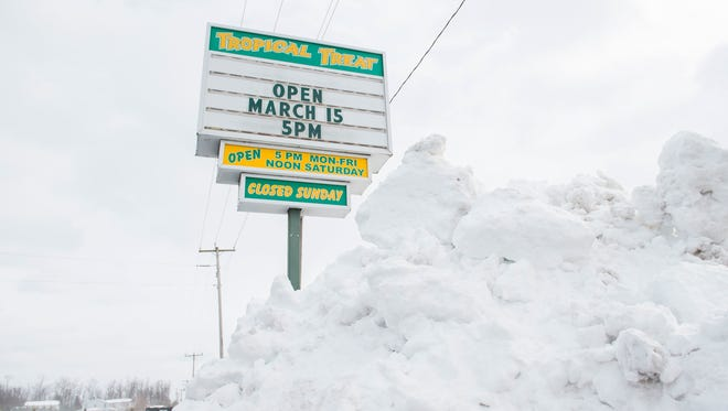 It's spring and Tropical Treat is open, under a pile of snow.