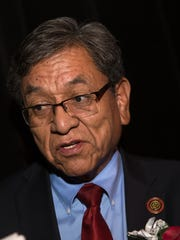 Navajo Nation President Russel Begaye speaks during