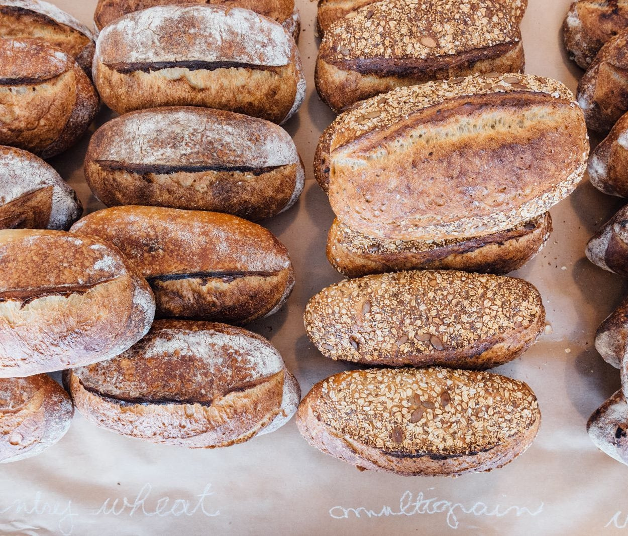Zak the Baker's popular multigrain and country wheat loaves are crispy on the outside and chewy on the inside. Everything in the bakery is certified kosher.