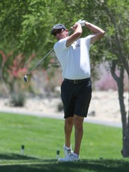 Jeff Gove tees off while playing in the U.S. Open local