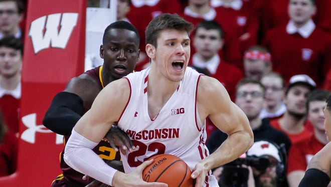 Wisconsin's Ethan Happ averaged 17.9 points and 8.0 rebounds as a junior.