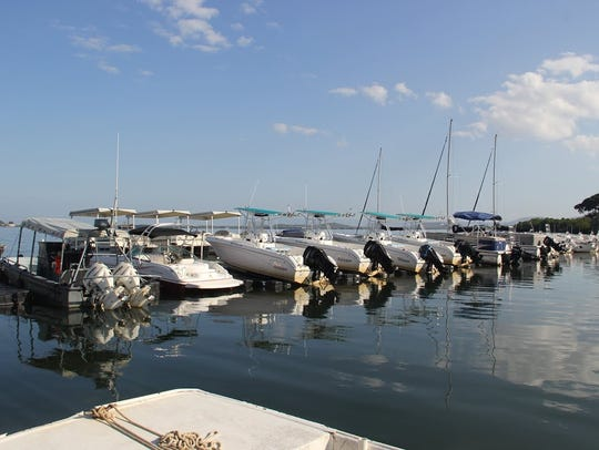 Service members can rent boats at the Gitmo marina
