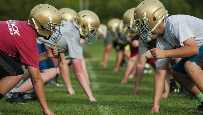 The Essex High School football team opened camp for the 2016 season Monday afternoon.