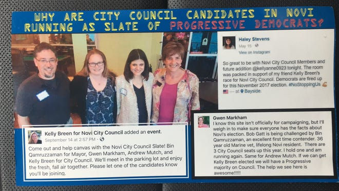 Candidates in the Novi City Council race are sparring over mailers being sent out.